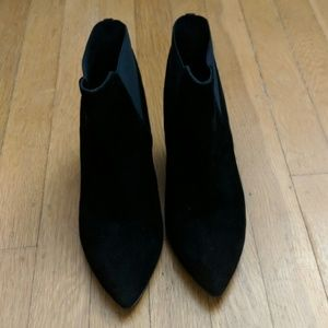 Kate Spade Ankle Boots Black Suede Size 5.5